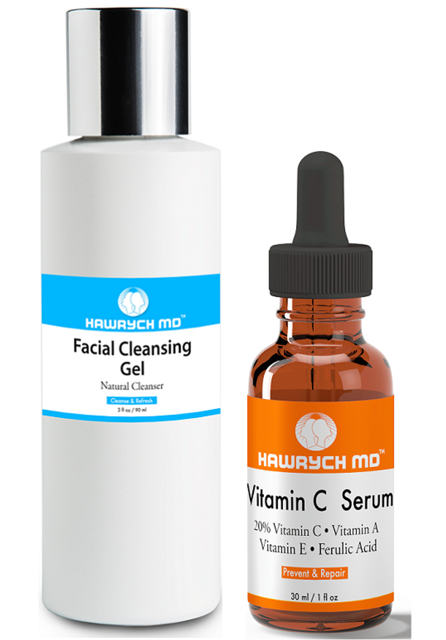 c63b3b0ee92 Hawrych MD 20% Vitamin C Serum Facial Cleansing Gel Set - HAWRYCH MD