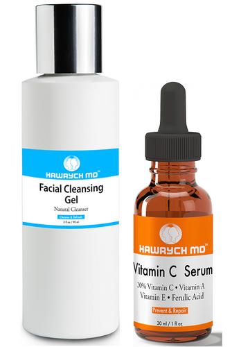 hawrych md vitamin c serum facial cleansing gel set