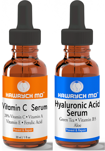 vitamin c serum and hyaluronic acid serum set
