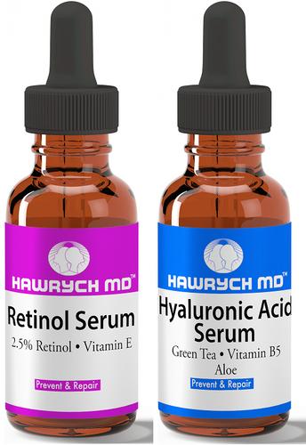 retinol serum hyaluronic acid serum