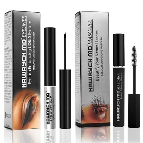 hawrych md eyelash enhancing liquid eyeliner and mascara set