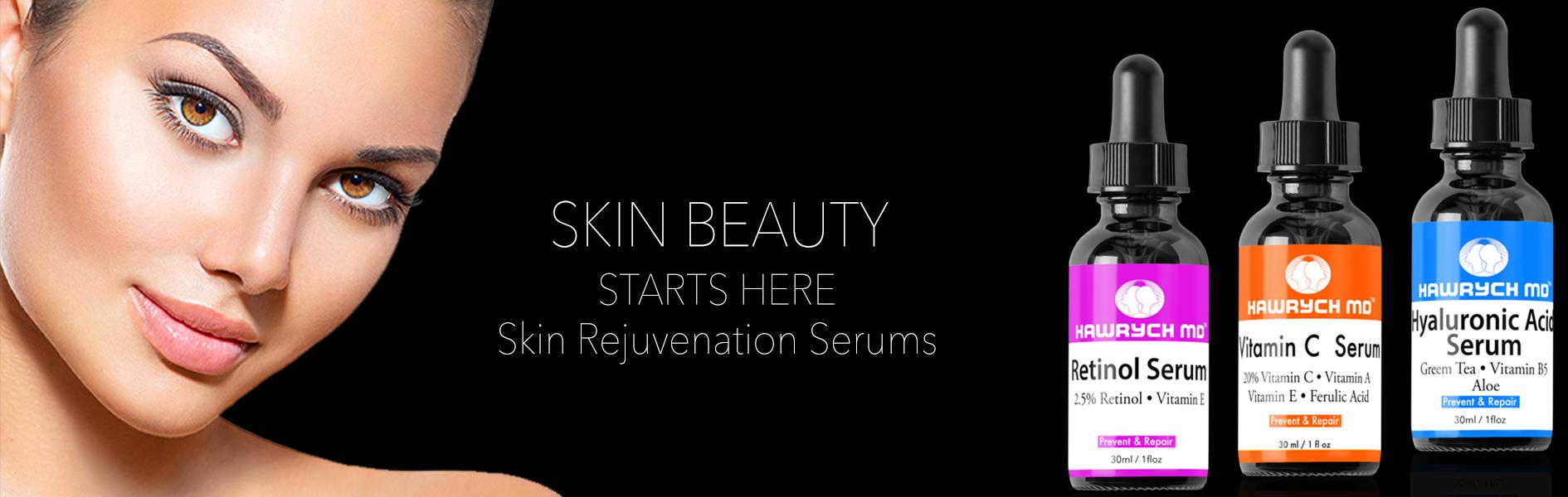 md skin serums vitamin c serum retrinol serum hyaluronic acid serum