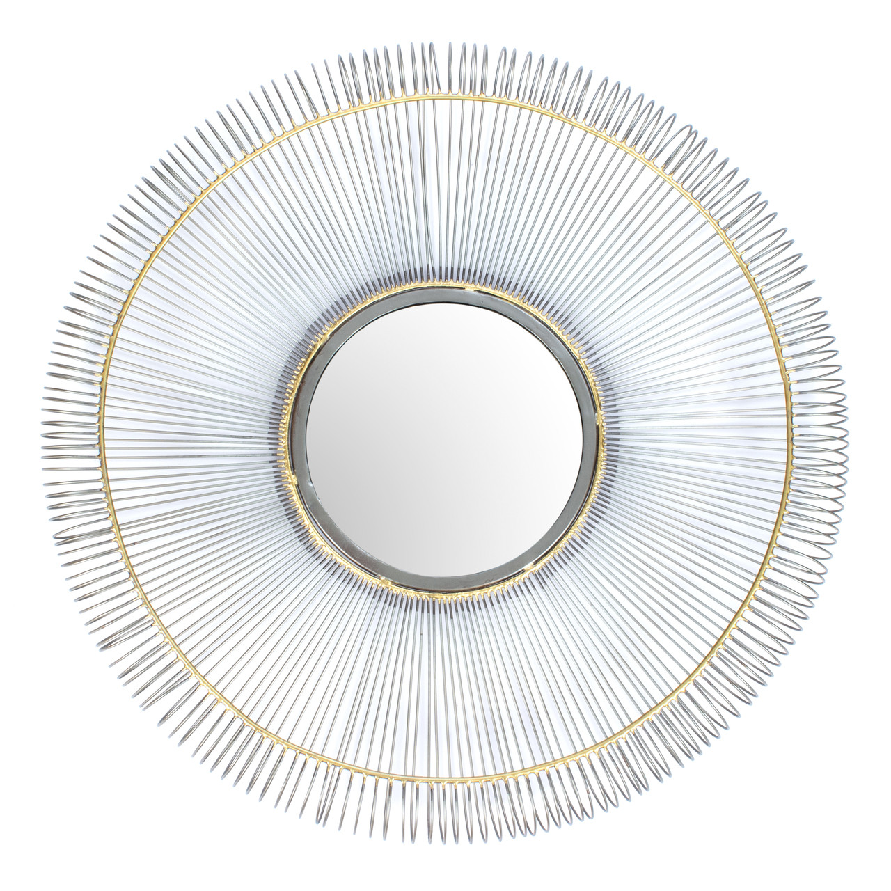 Mirror Wall Home Decor Mounted Round Large Silver Nickel Gold Framed Big Hallway