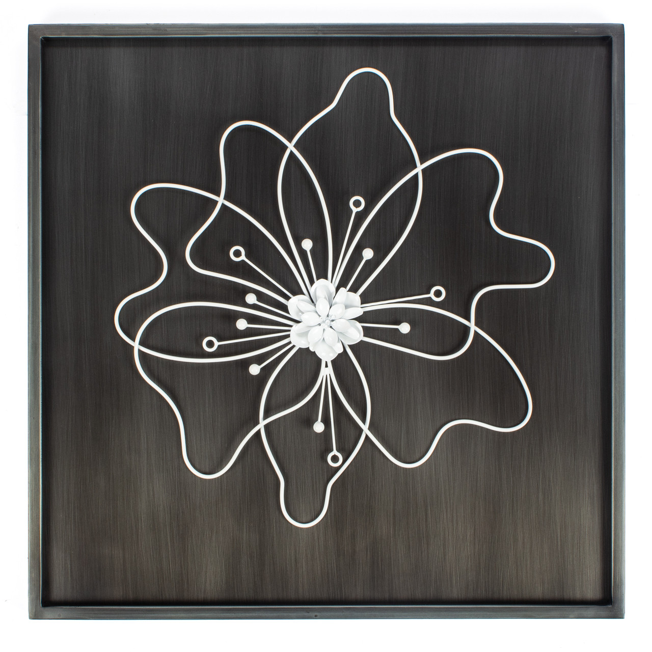 8a0d631439 wall art home floral flower décor mounted wall-mounted square gold framed  big hallway decorative