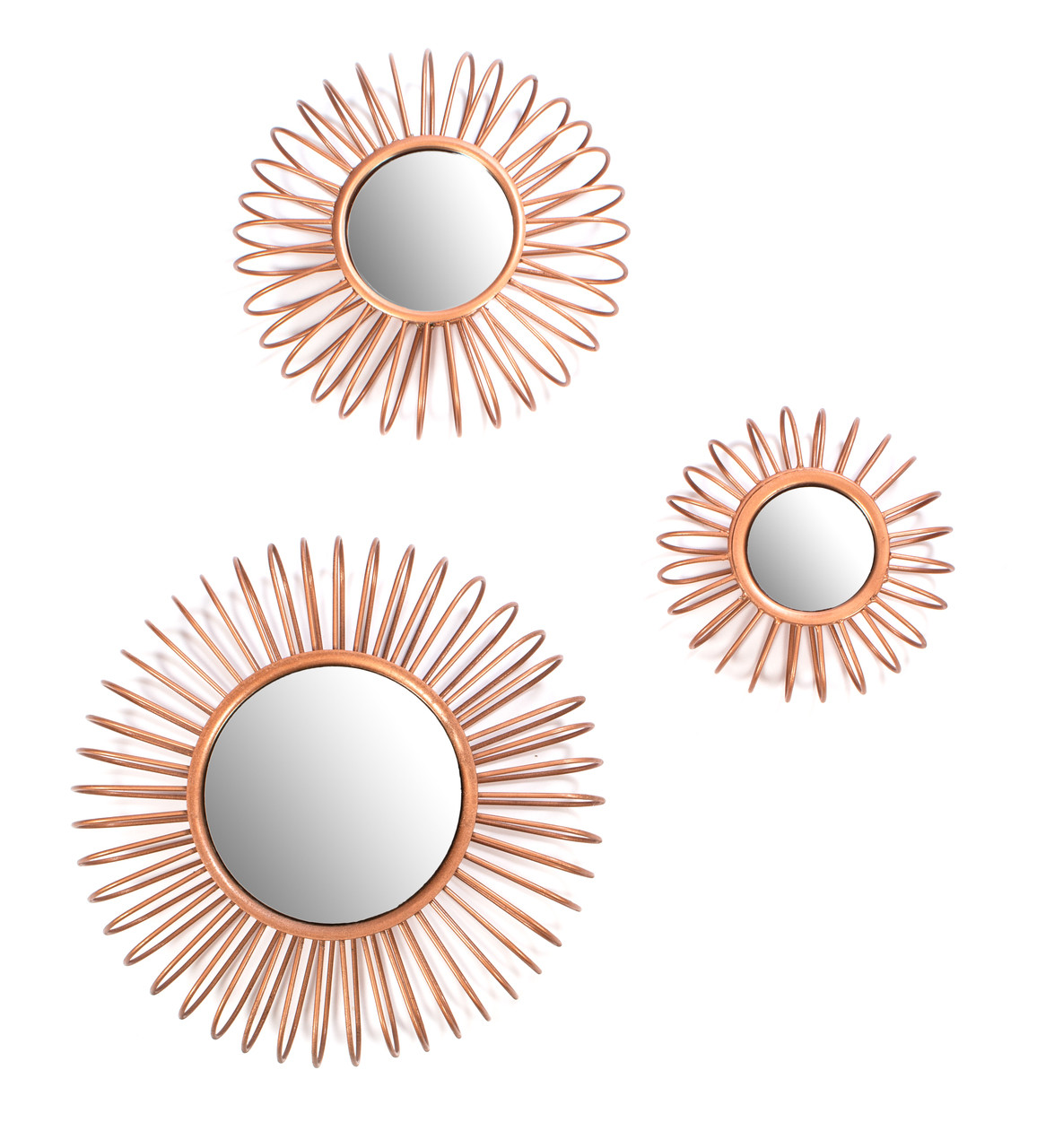 Red Fig Home Wire Wall Decor, Mirrors, Set of 3