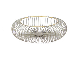 basket bowl wire large small decorative home décor accent accessory zinc gold metal tin big display iron round table centerpiece fruit bread produce mail sink shelf desk housewarming gift vegetable over cabinet kitchen floral flower