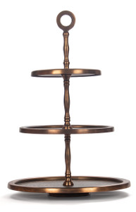 cake stand serving tray platter display 3 three tier 3-tier three-tier levels large copper wedding metal holder tasting tea big tall table fancy cupcake decorative party antique round hors d'oeuvres appetizers serveware serve cheese dessert cookie