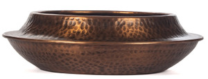 bowl decorative home décor accent accessory antique copper metal planter pot succulent plant holder potpourri large tin aluminum dot hammered textured keys tidbit big gold display iron indoor outdoor potted round enamel table centerpiece