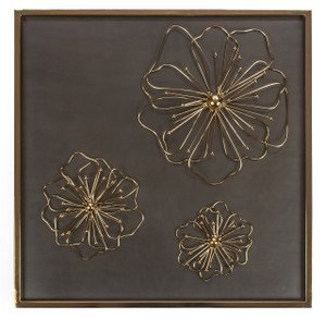 wall art home floral flower décor mounted wall-mounted square gold framed big hallway decorative accent hanging hall centerpiece bed tin iron metal chrome rustic living room modern bathroom 3d contemporary unique vintage bedroom zen kitchen hang geometric