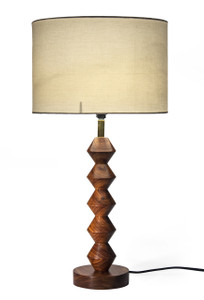 Red Fig Home Table Lamp with Brass Neck