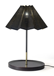 Red Fig Home Black Powder Coated Lamp