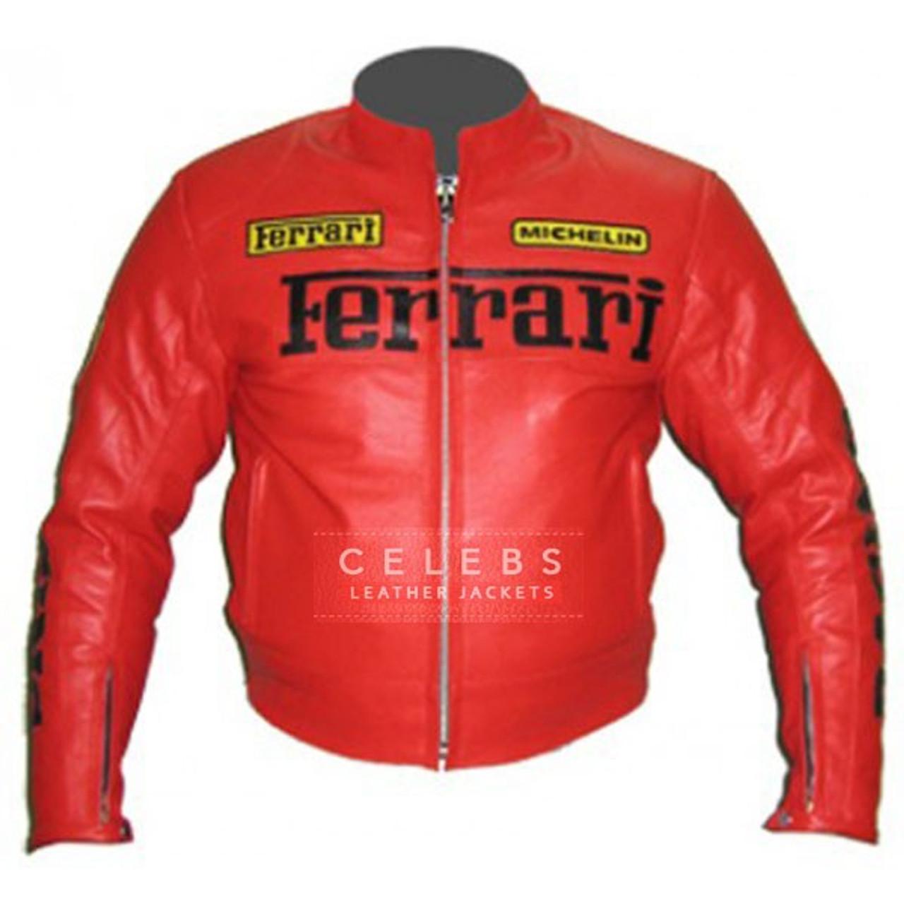 Ferrari Replica Leather Jacket