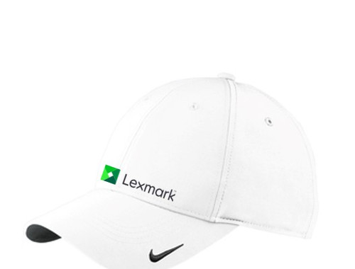22d147b295a38 White Nike Golf Swoosh Legacy 91 Cap - Lexmark Corporate Apparel
