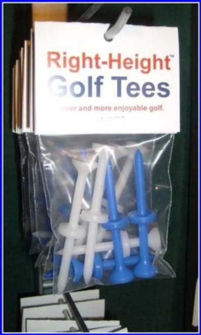 Right-Height Golf Tees (5 packages) - w/ Over-size Head