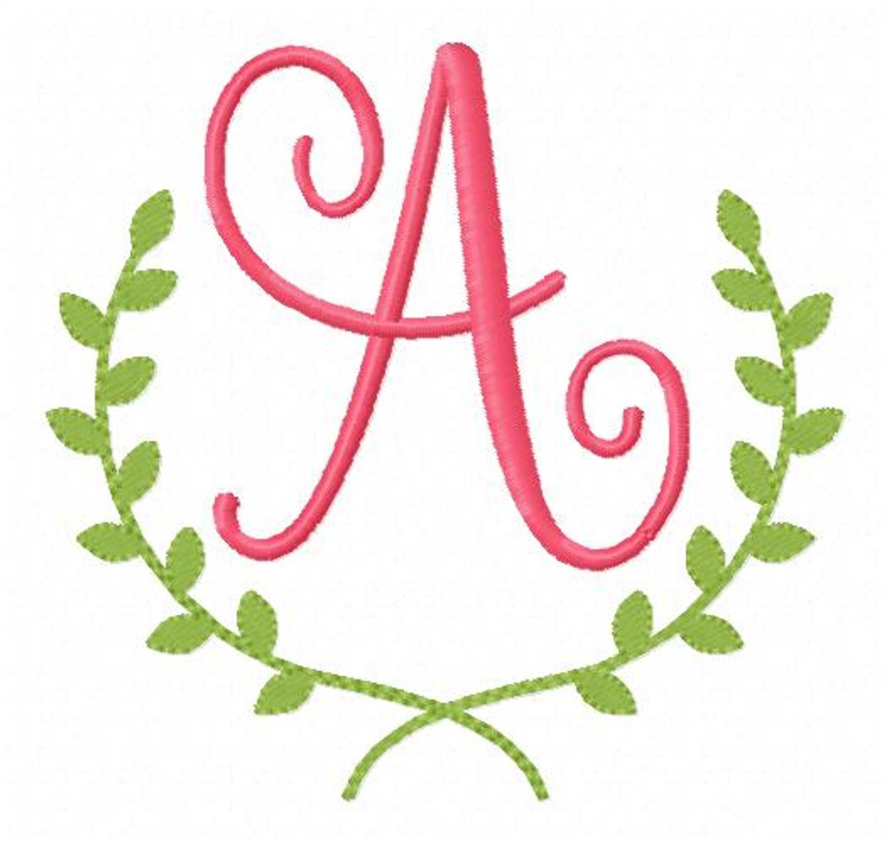 Ivy Machine Embroidery Monogram Font Design Set Joyful Stitches