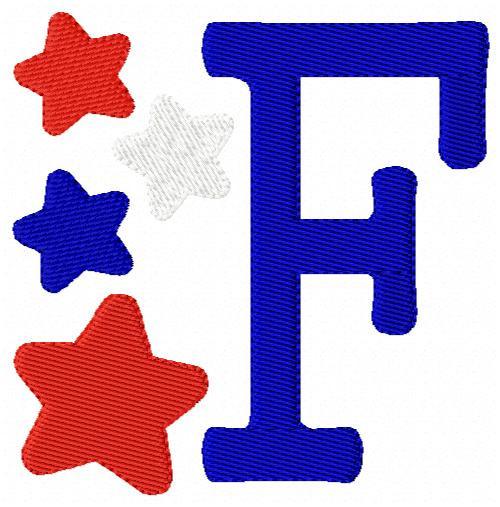 Star Party Patrioitic Monogram Set