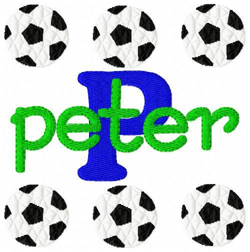 Soccer Balls Monogram Set