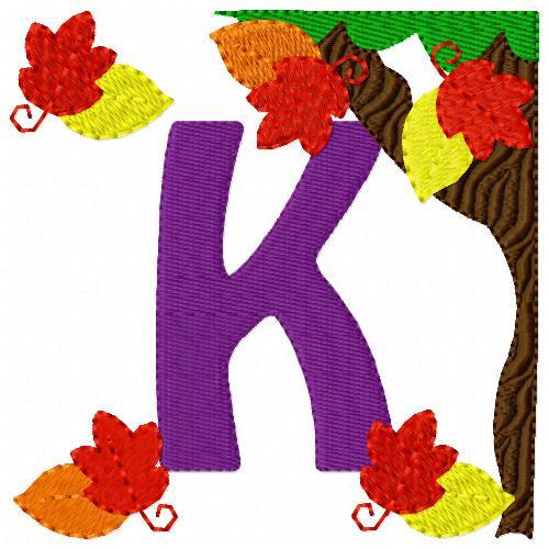 Fall Leaves Monogram Set