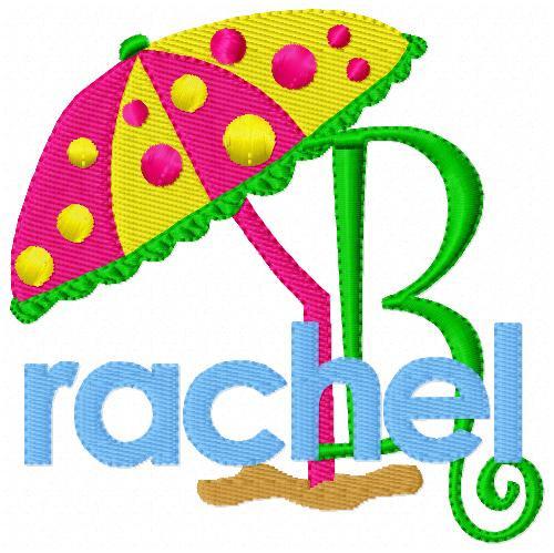 Beach Umbrella Summer Monogram Set