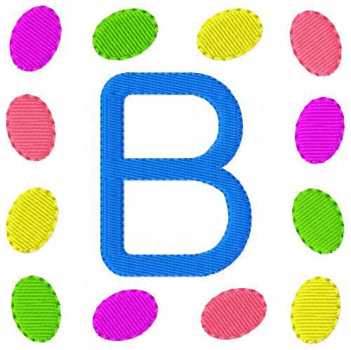 Jelly Bean Egg Monogram Set