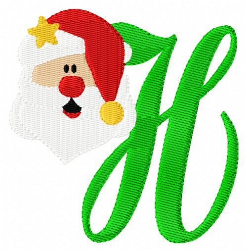 Santa Claus Monogram Set