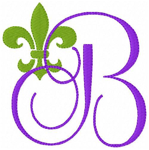 Fleur De Lis Monogram Embroidery Design Set