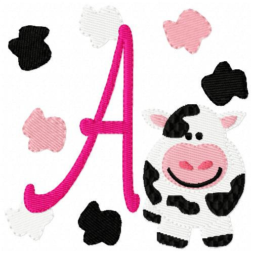 Cow Spots Monogram Set