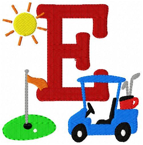 Fore! Golf Monogram Set