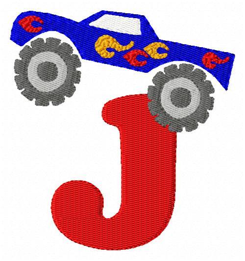 Monster Truck Monogram Font Set
