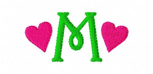 Heart Valentine Mini Monogram Set