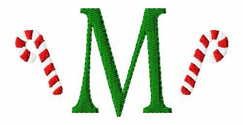 Candy Cane Mini Monogram Set