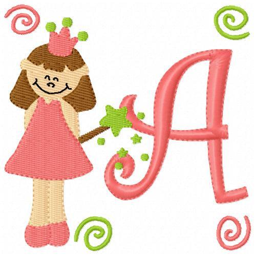 Princess Cutie Monogram Font Set