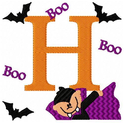 Dress Up Count Boo Halloween Monogram Set