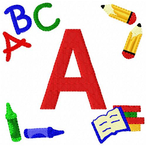 Back to School Time Monogram Set