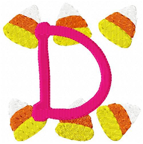 Candy Corn Fall Monogram Set