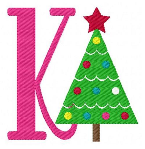 Christmas Tree Fun Monogram Set