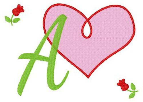 Open Heart 5x7 Valentine Monogram Set