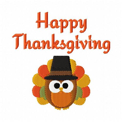 Happy Thanksgiving Owl Turkey