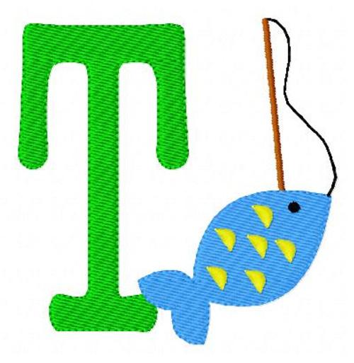 Fish on the Line Monogram Set