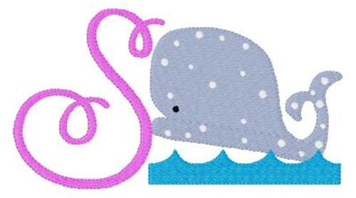 Whale Cutie 5x7 Monogram Set