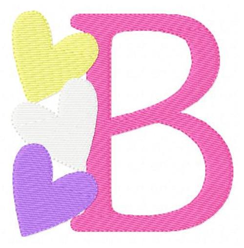 Candy Valentine Heart Monogram Set