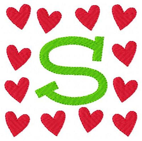 Rose Heart Valentine Monogram Set