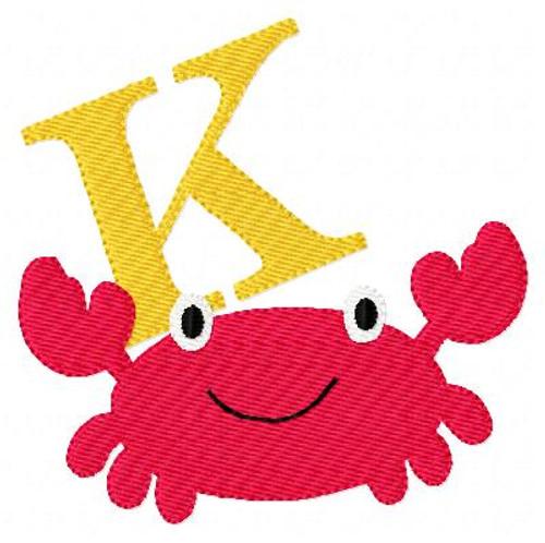 Sand Crab Monogram Set