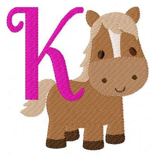 Little Pony Horse Monogram Set