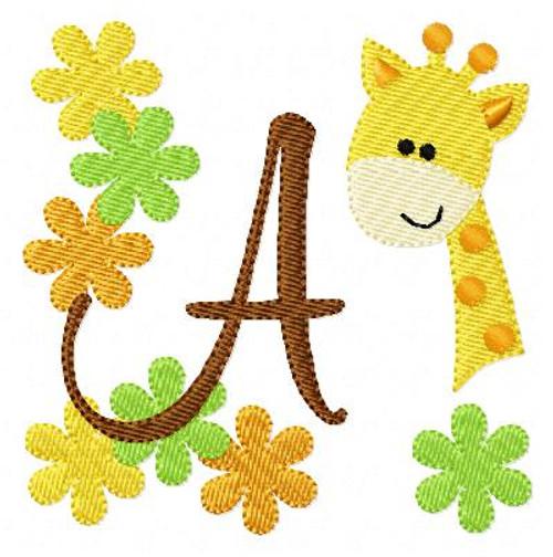 Giraffe Zoo Monogram Set