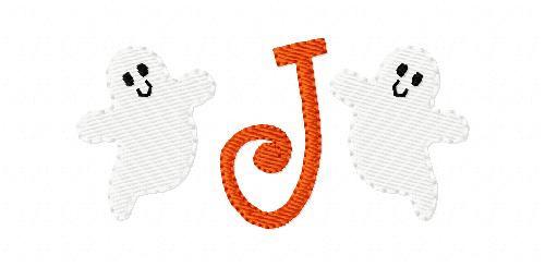 Ghost Fall Halloween Cute Mini Monogram Set
