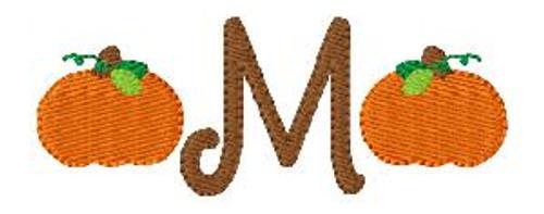 Pumpkin Fall Harvest Halloween Cute Mini Monogram