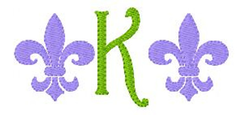 Fleur de Lis Mini Monogram Set