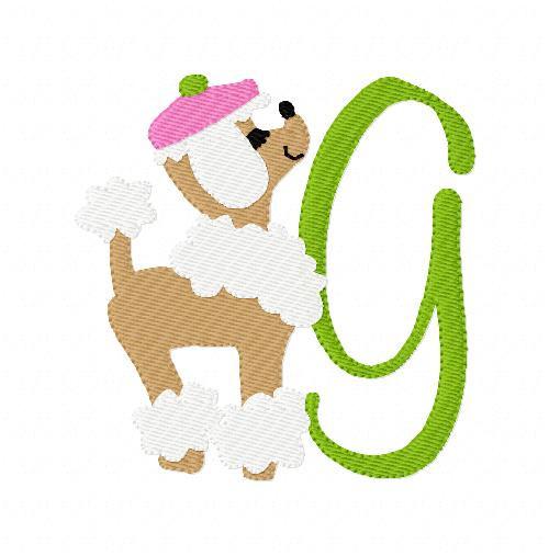 Poodle Snoodle Dog Monogram Set