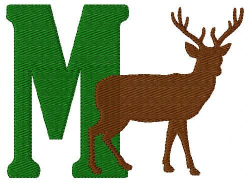 Deer Season 5x7 Wilderness Hunting Monogram Set